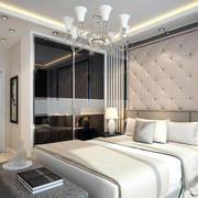 现代简约别墅型卧室背景墙装修效果图