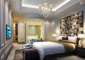 90平米精致欧式卧室室内设计装修效果图