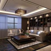 中式客厅吊顶整体设计