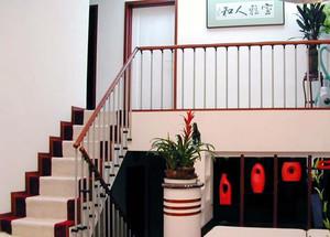 120平米别墅型室内楼梯设计装修效果图