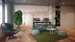 110平米现代简约时尚创意客厅装修效果图