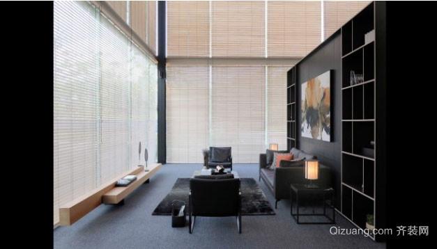 黑色主调后现代风格客厅装修效果图