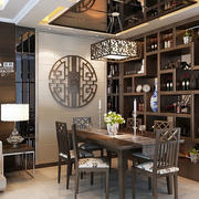 现代中式风格精致餐厅吊顶装修效果图