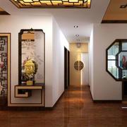 100平米现代中式风格玄关装修效果图