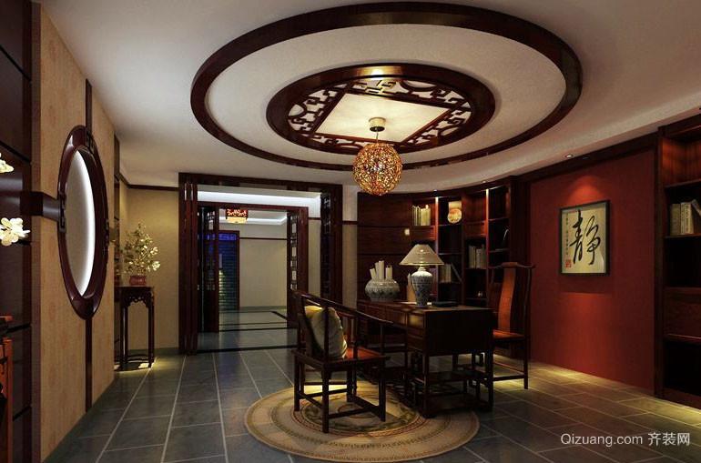 古典中式风格大户型精致餐厅吊顶装修效果图