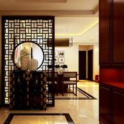 120平米大户型中式风格进门玄关装修效果图