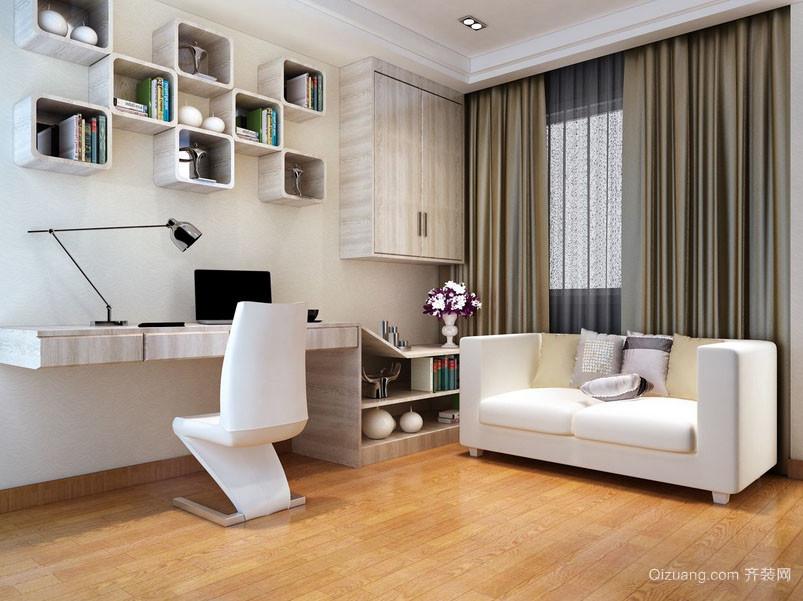 别墅型后现代简约风格大书房装修效果图