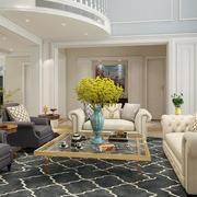 北欧风格复式楼简约客厅装修效果图
