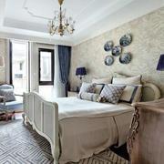 地中海风格精致简约自然卧室装修效果图