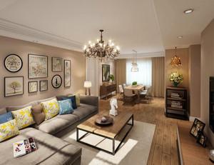 100平米北欧风格自然舒适客厅照片墙装修效果图