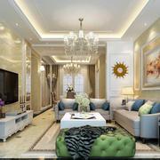 简欧风格大户型奢华客厅装修效果图