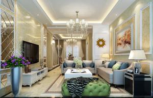 大户型现代简约风格客厅装修效果图