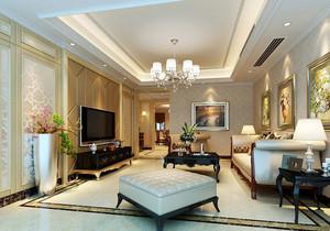 大户型欧式风格客厅电视背景墙装修效果图