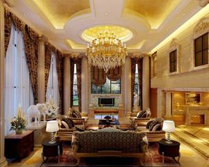 90平米大户型欧式客厅吊顶装修效果图欣赏