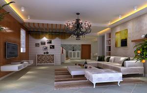 2016欧式别墅客厅室内背景墙设计装修效果图