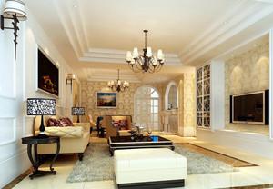 100平米别墅欧式风格客厅背景墙装修效果图