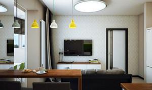 80平米现代简约时尚创意单身公寓装修效果图赏析