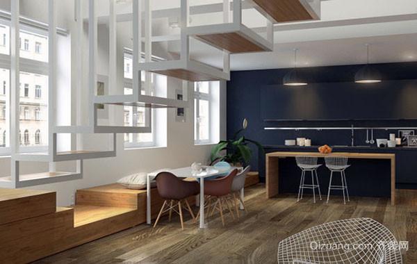 后现代风格时尚简约创意餐厅吊顶装修效果图