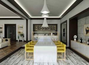 后现代风格精致简约创意餐厅吊顶装修效果图