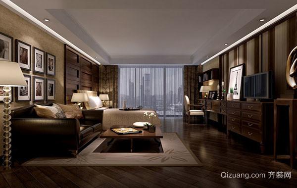 美式田园风格朴实舒适客厅装修效果图鉴赏