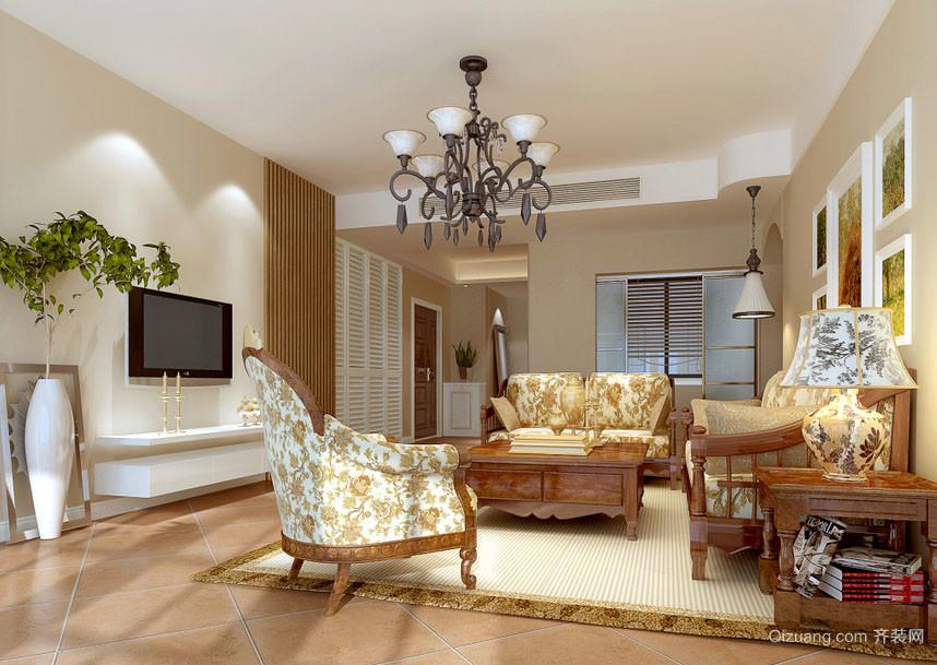 简欧风格简约时尚小户型客厅装修效果图