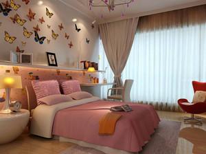 都市简约时尚创意儿童房背景墙装修效果图