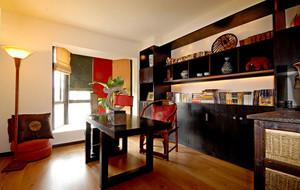 中式风格大户型精致大书房装修效果图大全
