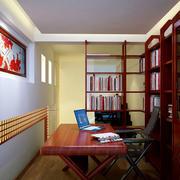 精致书房背景墙装修效果图