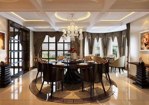 精致的欧式风格单身公寓餐厅吊顶装修效果图