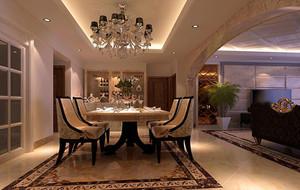 90平米大户型欧式餐厅室内设计装修效果图