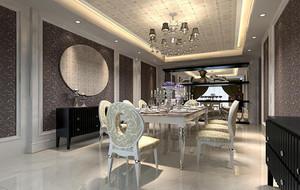经典的大户型欧式餐厅室内装修效果图