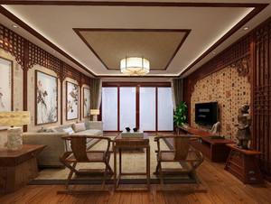 精美的别墅型中式客厅装修效果图鉴赏