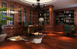 别墅中式风格书房吊顶装修效果图鉴赏