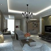 完美的大户型欧式客厅设计装修效果图