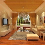 唯美的三居室欧式客厅装修效果图鉴赏