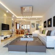 2016别墅型精致客厅室内设计装修效果图