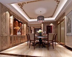 大户型中式风格精致餐厅吊顶装修效果图赏析