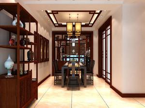 现代中式风格稳重大气大户型书房装修效果图
