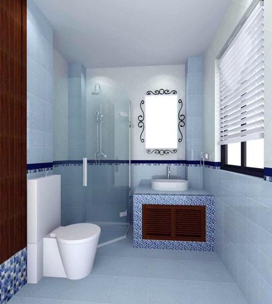 美式风格大户型时尚卫生间装修效果图实例