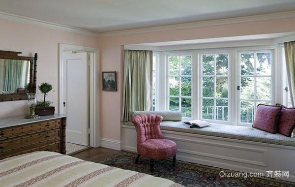 都市轻快时尚自然卧室飘窗装修效果图实例