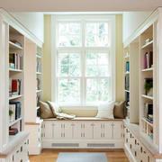 别墅型简约欧式风格书房飘窗装修效果图