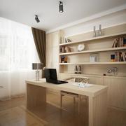 现代简约风格大户型书房装修效果图