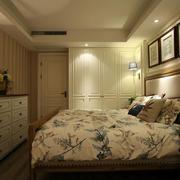 美式田园风格自然舒适卧室背景墙装修效果图