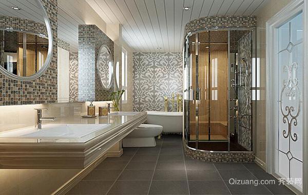 90平米大户型卫生间室内设计装修效果图鉴赏