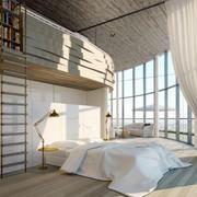 朴素时尚卧室效果图