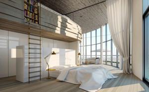 现代简约时尚创意大户型卧室装修效果图大全