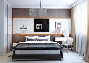 110平米现代简约风格精致时尚创意卧室装修效果图