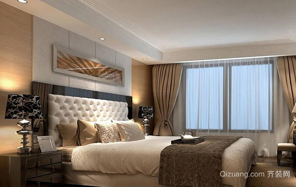 100平米别墅欧式卧室室内装修效果图欣赏
