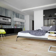 简约时尚创意卧室效果图