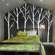 中冷色调简约时尚小户型卧室照片墙装修效果图